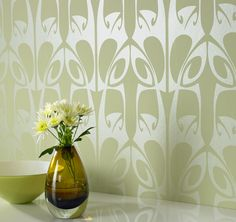 Modern metallic wallpapers from Graham and Brown
