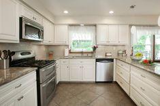 White Kitchen with Subway Tile Backsplash