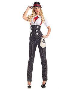 Adult Heist Hottie Gangster Costume - Spirithalloween.com