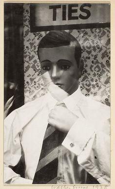 [Mannequin in Shop Window, New York City] Walker Evans - 1928-29.