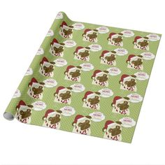 Shop Christmas Pug Wrapping Paper created by TheSilverSnowflake. Personalize it with photos & text or purchase as is! Picture Christmas Ornaments, Silver Christmas Decorations, Christmas Wrapping, Christmas Themes, Christmas Gifts, Pug Christmas, Candy Pillows, Gift Labels, Ornaments Design