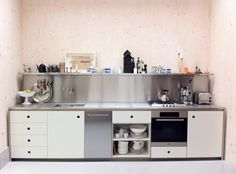 Small industrial-style kitchen