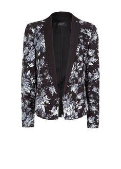 Floral print flowy blazer