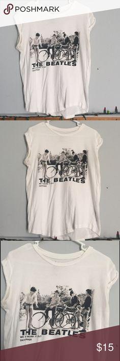 Vintage styled Beatles Shirt Black and white Vintage Beatles shirt with rolled sleeves Tops Tees - Short Sleeve