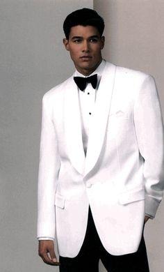 white tuxedo coat groom