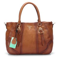 Amazing Prada Stylish Leather Bags Brown 001 Authentic  afab283904e
