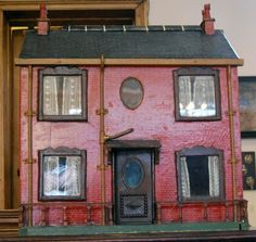 VICTORIAN DOLLS HOUSE - I'm so totally in love with this one.  Looks so real and just like a house of its day.  The chimneys, the color of the house and the down pipes look so authentic - I can almost sense the people living inside.