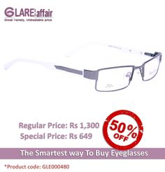 EDWARD BLAZE EBPR2012 GREY WHITE EYEGLASSES http://www.glareaffair.com/eyeglasses/edward-blaze-ebpr2012-grey-white-eyeglasses.html  Brand : Edward Blaze  Regular Price: Rs1,300 Special Price: Rs649  Discount : Rs651 (50%)