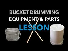 This lesson describes the 10 names for our bucket drumming equipment and parts. Here's the quiz printout. For this full lesson and Drum Lessons, Music Lessons, Bucket Drumming, Drum Parts, Drum Music, Vintage Drums, All About Music, Brain Breaks, Elementary Music