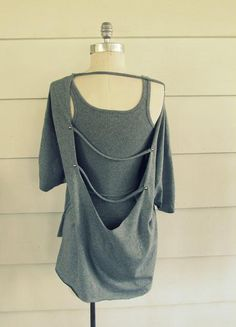 DIY Clothes DIY Refashion  DIY Open Back, No Sew T-Shir