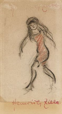 Heinrich Zille, Mädchen im Badeanzug
