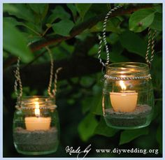 Easy to make DIY wedding lanterns - Start Recycling Your Jars!