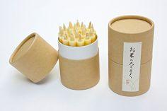 お米のろうそく 1号 (20本入) - グッドデザイン賞受賞!米ぬかを使った和ろうそく。あたたかに揺らぐ灯りはこころをホッと和ませます。   COS KYOTO Online Store
