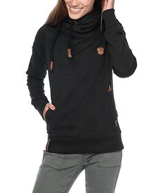 Add some Euro style to your wardrobe with the Darth VIII black hoodie. Naketano is a german clothing company, bringing modern reconstruction of super comfy clothing. The Darth VIII features an oversized crossed collar with an adjustable drawstring hoodie,
