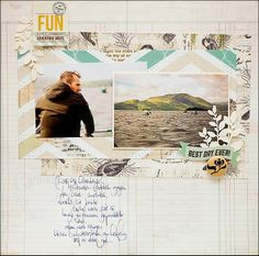 #papercraft #scrapbook #layout.  PaperHaus Magazine: Welcome to March, here's our sketch this month.....