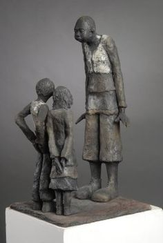 * By Joelle Gervais Sculptures Céramiques, Sculpture Clay, Statue En Bronze, Statues, Clay People, Clay Figures, Wow Products, African Art, Figurative Art
