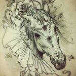 Horse tattoo - More tattoo designs available at www.99tattoodesigns.com