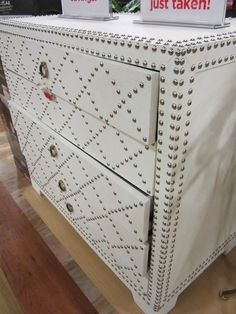 DIY Painted and Studded Furniture by tammy