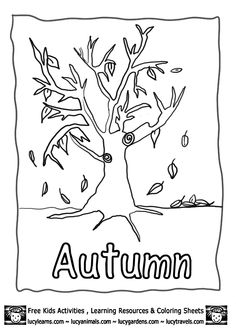 Autumn Fall color page, holiday coloring pages, color plate ...