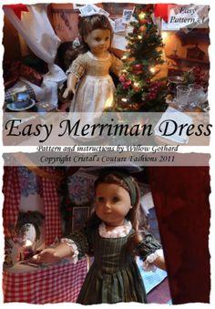 Easy Doll Dress  Felicity Merriman  by DollWorldMarketplace on Etsy, $4.99