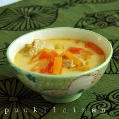 Juustoinen Kanakeitto Punch Bowls, Soup Recipes, Curry, Ethnic Recipes, Food, Curries, Eten, Meals, Diet