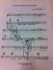LED ZEPPELIN ~ SIGNED SHEET MUSIC BY PAGE & PLANT: THE SONG REMAINS THE SAME