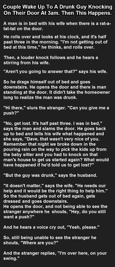 .. drunk wants push.