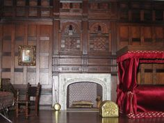Cookie's World of Historic Dolls Houses and Miniatures: Lord Leicester's Bed Chamber