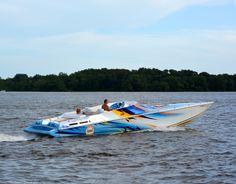 Cigarette Boat at Boat Access, Pleasant Hill Park, NE Philadelphia