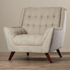 Corrigan Studio Davis Arm Chair Color: Dove Grey