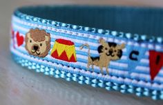 Circus Fun Dog Collar/Blue Dog