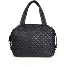 MZ Wallace Sutton Large Quilted Nylon Tote (331 CAD) ❤ liked on Polyvore featuring bags, handbags, tote bags, apparel & accessories, travel pouch, travel duffel bags, travel totes, black crossbody purse and duffle bag