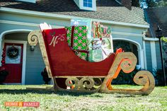 Santa won't be able to tell the difference! @kennethwingard DIYs the ultimate Sleigh for your front lawn! Tune in to Home and Family weekdays at 10/9c on Hallmark Channel!