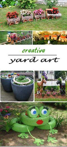 Diy yard art and garden ideas my garden газон, песочницы, бе Tire Garden, Garden Soil, Vegetable Garden, Garden Crafts, Garden Ideas, Garden Inspiration, Backyard Ideas, Tire Craft, Spring Projects