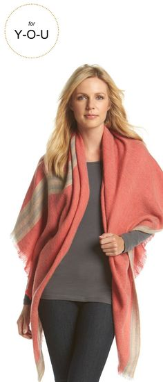 Gifts for Y-O-U |Collection 18 Striped Border Runway Wrap | Very Merry Gift Guide