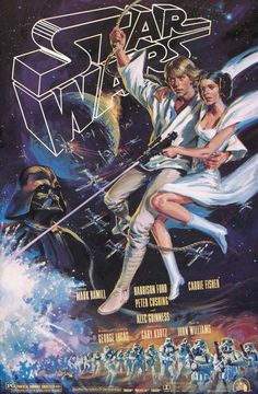 No one was a bigger fan than I when STAR WARS came out.I still have my STAR WARS sheets and pillow cases when I was a boy. Star Wars Poster, Star Wars Episódio Iv, Star Wars Fan Art, Star Art, American Graffiti, Ralph Mcquarrie, Love Stars, Iron Fist, Star Wars Episodes