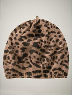 R wants this hat to match the leopard print ballet flats ;)