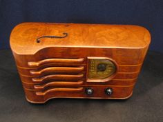 Vintage 1939 Emerson Old Stradivarius Antique Violin Radio Ingraham Cabinet | eBay