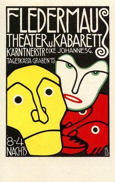 "This is a fabulous ART NOUVEAU Print"" of a German OPERA Poster for the Fledermaus Theater Kaberett. Choose from high quality Epson Premium paper in menu above. Cabaret, Tristan Tzara, Vintage Ads, Vintage Posters, Vintage Music, William Morris, Art Nouveau, Alphonse Mucha Art, Jugendstil Design"