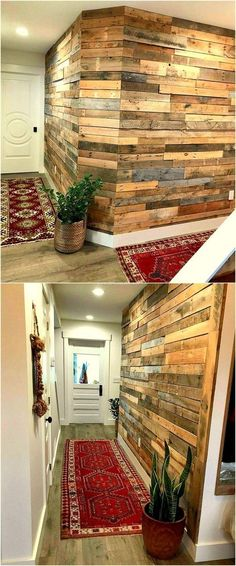 Lovely pallet wooden diy work at home