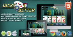 Buy Video Poker Jacks or Better - Casino Game by codethislab on CodeCanyon. Jacks or Better is a casino game. Enjoy this videopoker game with the stylish graphic! This game has been deve. Casino Party, Casino Games, Gambling Games, Jacks Or Better, Game Script, Cake Aux Raisins, Las Vegas, Game Mobile, Video Poker