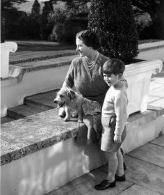 Prince Charles with the 'wonderful' Queen Mother.