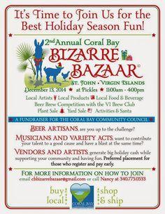 Virgin Island News : Mark Your Calendars for Coral Bay's Bizarre Bazaar