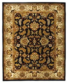 HG628B, Black, Hand Tufted, Safavieh Clearance available from rugsdoneright.com