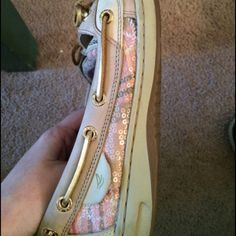 Sperry pink shoes Look way better in person. Excellent condition Worn a couple of times. Perfect for summer.obo Sperry Top-Sider Shoes