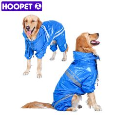 Pet Large Dogs Raincoat Waterproof Detachable Rain Cover Water Protection