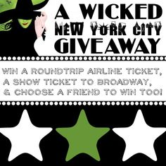 Craftaholics Anonymous® | Giveaway for a Trip to see Wicked in NYC
