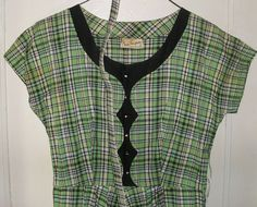 Vintage Grace Thompson dress. Rhinestone by SquareNailSalvage