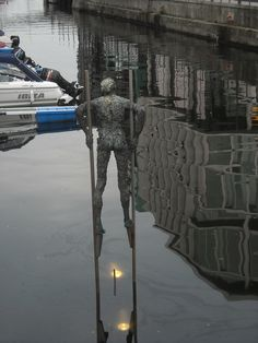 Sculpture in the water, Oslo