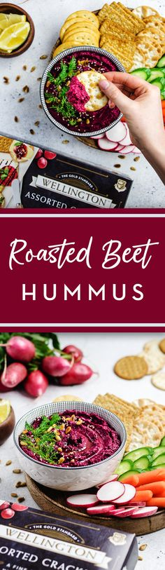 Hummus with a twist 🌀made with delicious fresh beets and chickpeas. This is one dip that you need to get your hands on. Veg Recipes, Other Recipes, Cooking Recipes, Healthy Recipes, Appetizer Recipes, Appetizers, Vegan Apps, Fresh Beets, Beet Hummus